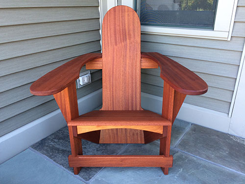 Mahogany Breadloaf Chair